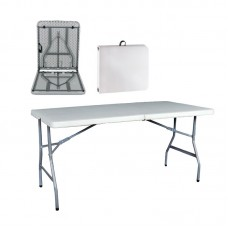 BLOW Catering Folding-In-Half Table 152x70 White 1pcs