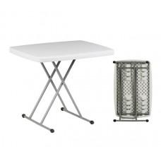 BLOW Hdpe Folding Adjustable Table 77x50cm White 1pcs