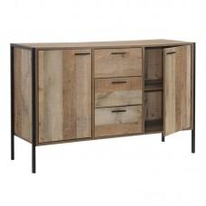 PALLET Storage Cabinet 124x40x80 Antique Oak 1pcs