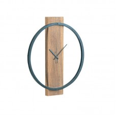 CLOCK-1 (Wall) dia45x4 Acacia Natural Finish (Black Paint) 1pcs