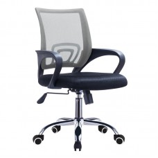 BF2101-F (with relax) Office Chair Chrome/Grey-Black Mesh (2pcs) 2pcs
