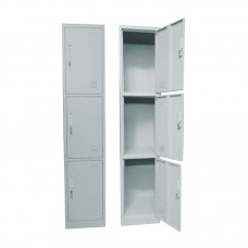 3-LOCKER Metal 38x45x185cm Grey 1pcs