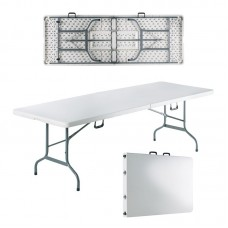 BLOW-R Catering Folding-In-Half Table 240x85cm White 1pcs