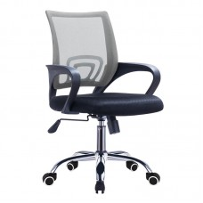 BF2101-F (with relax) Office Armchair Chrome/Grey-Black Mesh (1pc) 1pcs