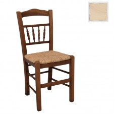 ANTIKA Chair Unpainted with Rush Seat 1pcs
