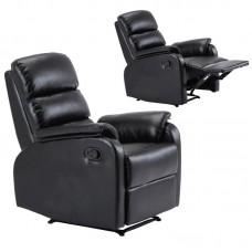 COMFORT Armchair Relax Black Pu 1pcs