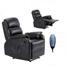 COMFORT Massage Armchair Relax Black Pu 1pcs