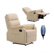 COMFORT Massage Armchair Relax Beige Pu 1pcs