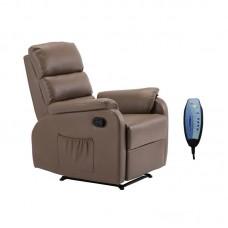 COMFORT Massage Armchair Relax Cappuccino Pu 1pcs