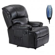 SPACE Massage Armchair Black Pu 1pcs