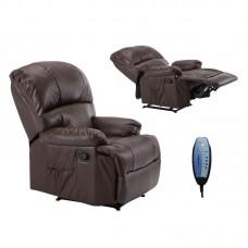 SPACE Massage Armchair Brown Pu 1pcs