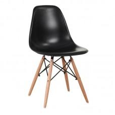 ART Wood Chair PP Black 4pcs