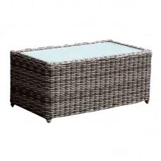 ARIZONA Coffee Table 100x50 Grey/Brown Wicker 1pcs