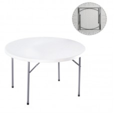 BLOW-R Catering Folding Table D.121cm White 1pcs
