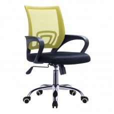 BF2101-F (with relax) Office Chair Chrome/Light Green-Black Mesh (1pc) 1pcs