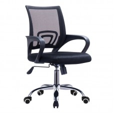 BF2101-F (with relax) Office Armchair Chrome/Black Mesh (1pc) 1pcs