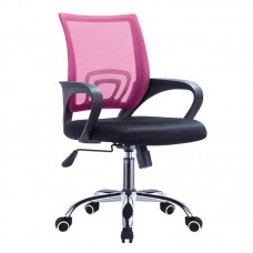 BF2101-F (with relax) Office Chair Chrome/Pink-Black Mesh (1pc) 1pcs