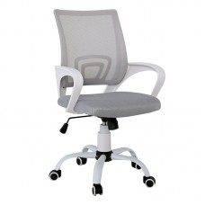 BF2101-S (with relax) Office Chair White Steel Base/Grey Mesh 1pcs