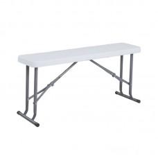 BLOW Hdpe Folding Bench White 95x23x43cm 1pcs
