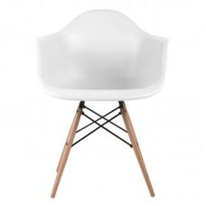 ALEA Wood Armchair PP White 4pcs