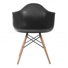 ALEA Wood Armchair PP Black 4pcs