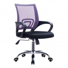 BF2101-F (with relax) Office Chair Chrome/Purple-Black Mesh (1pc) 1pcs