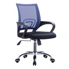 BF2101-F (with relax) Office Chair Chrome/Blue-Black Mesh (2pcs) 2pcs