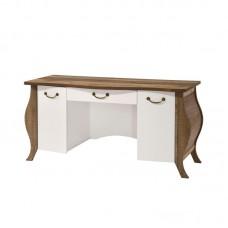 SCARLET Writting Desk 155x60x76 Antique Oak/White 1pcs