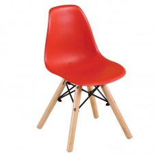 ART Wood Kid Chair PP Red 4pcs