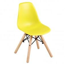 ART Wood Kid Chair PP Yellow 4pcs