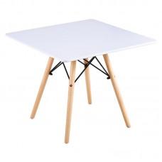 ART Wood Kid Table 60x60/H49cm White 1pcs