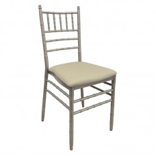 ILONA Metal Chair Champagne / Pu Beige 1pcs