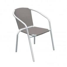 BALENO Armchair Steel White/Textilene Cappuccino 1pcs