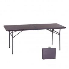 BLOW Catering Folding-In-Half Table 180x74cm Grain Walnut 1pcs