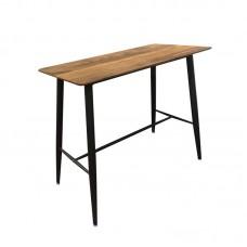 LAVIDA Bar Table 120x60 Metal Black, Antique Oak 1pcs