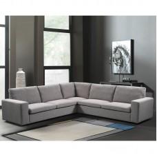 PACIFIC Corner Sofa Fabric Grey 1pcs