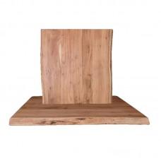 LIZARD Table Top 80x80/4cm, Acacia Natural Finish 1pcs