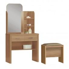CALIBER Dressing Table Set (with stool) 80x39x155 Sonoma Oak 1pcs