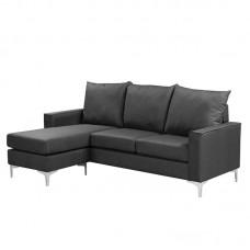 AVANT Reversible Corner Sofa Fabric Grey 1pcs
