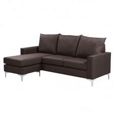 AVANT Reversible Corner Sofa  Fabric Brown 1pcs