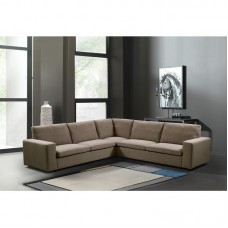 PACIFIC Corner Sofa Fabric Brown 1pcs