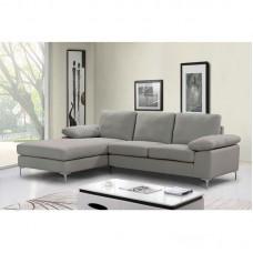 OCEAN Right Corner Sofa / Fabric Grey-Beige 1pcs