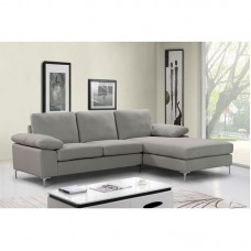 OCEAN Left Corner Sofa / Fabric Grey-Beige 1pcs