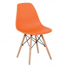 ART Wood Chair PP Orange 4pcs