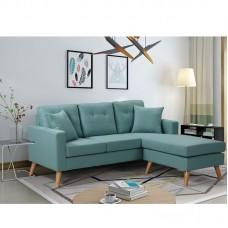ALAN Reversible Corner Sofa Fabric Pale Green 1pcs