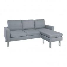 REVERSE Reversible Corner Sofa Fabric Light Grey 1pcs