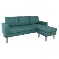 REVERSE Reversible Corner Sofa Fabric Pale Green 1pcs