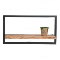 LIZARD Wall Frame 65x25x35 Acacia Natural Finish (Black Paint) 1pcs