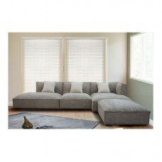 ALBERT Right Facing Corner Sofa/Fabric Brown-Grey 1pcs