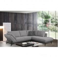 NEVIL Right Facing Corner Sofa Fabric Grey 1pcs